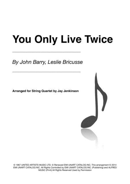 You Only Live Twice for String Quartet