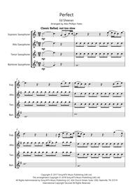 Download Perfect By Ed Sheeran (saxophone Quartet - SATB