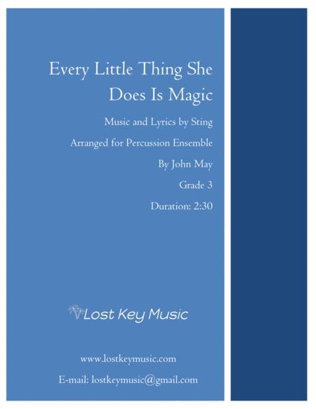 Every Little Thing She Does Is Magic-Percussion Ensemble