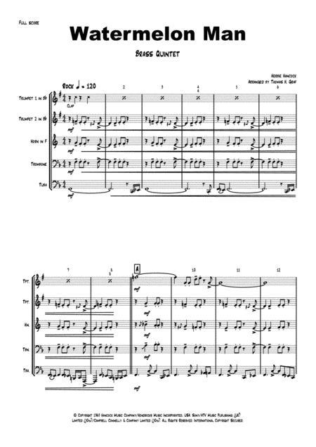 Watermelon Man - Jazz Rock Classic - Herbie Hancock - Brass Quintet