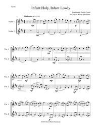 Infant Holy, Infant Lowly (W Żlobie Leży) for 2 violins