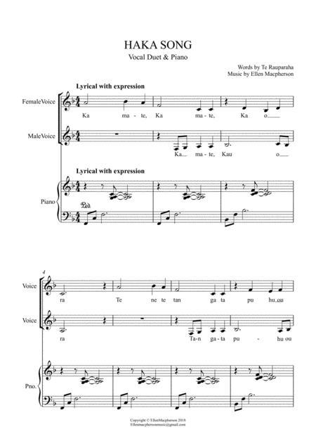 Maori Haka Song / Vocal Duet