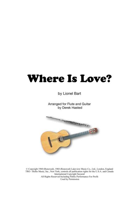 Where Is Love? (Oliver) for Flute & Guitar