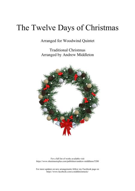 The Twelve Days of Christmas arranged for Woodwind Quintet