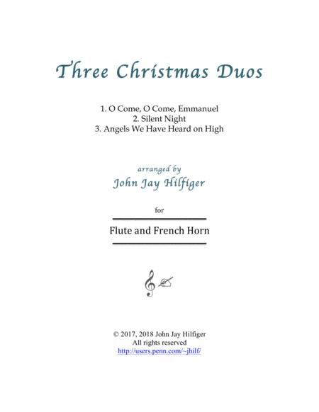 Three Christmas Duos for Flute and Horn