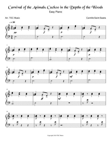 Carnival of the Animals: Cuckoo (Easy Piano)