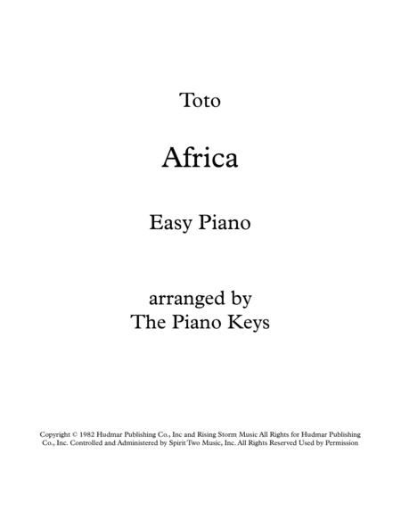 Download Africa Toto Easy Piano Solo Sheet Music By Toto Sheet