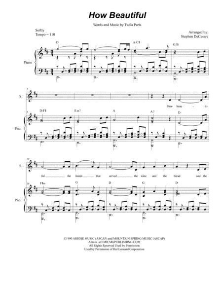 How Beautiful (for 2-part choir - (SA)