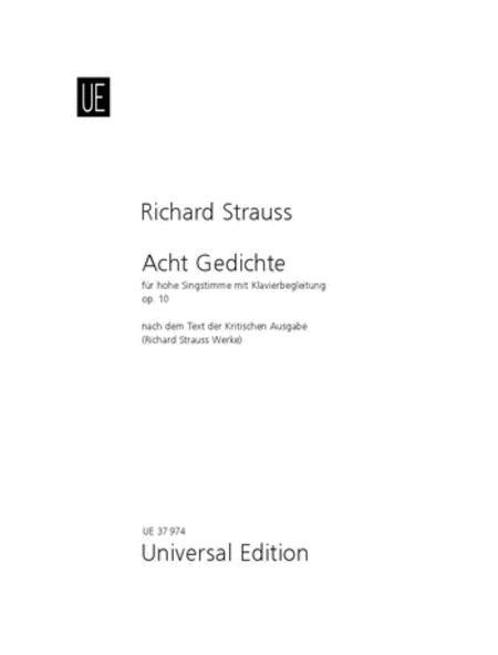 Eight Gedichte - High voice
