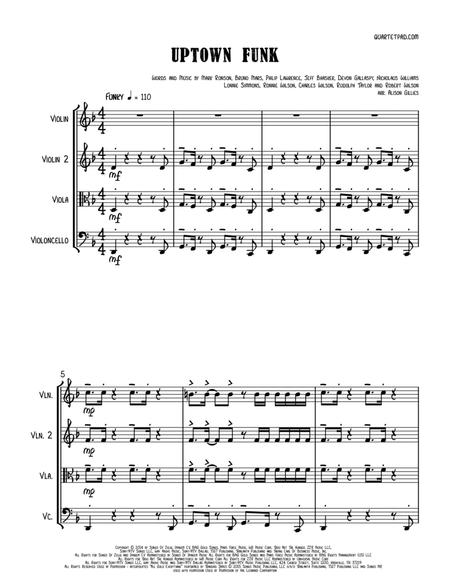 Uptown Funk - String Trio (optional vln2 or vla)