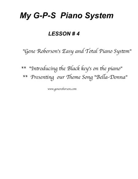 My GPS Piano System Lesson #4