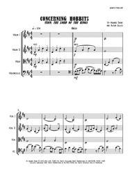 Concerning Hobbits from THE LORD OF THE RINGS - String Quartet