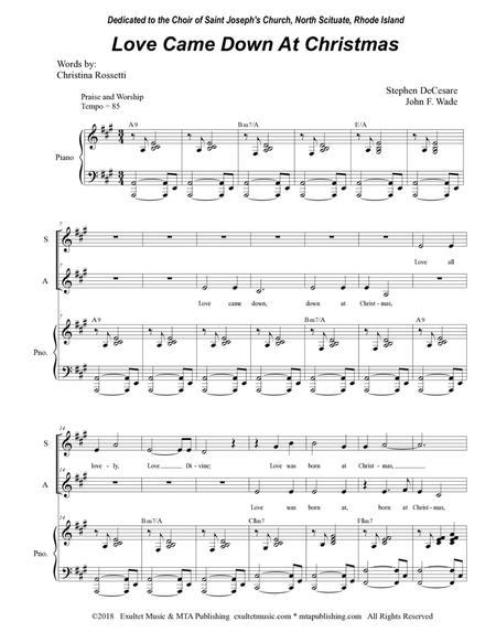 Love Came Down At Christmas (for 2-part choir - (SA)
