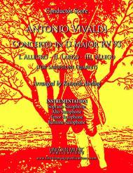 Vivaldi - Concerto in D Major RV 93 (for Saxophone Quartet SATB and Optional Organ)