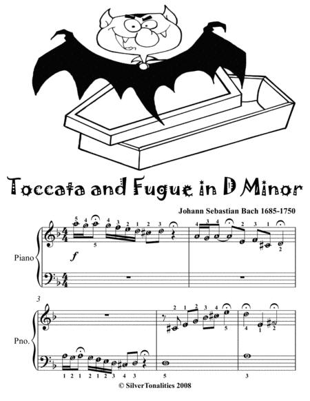 Toccata and Fugue in D Minor Easy Piano Sheet Music Tadpole Edition