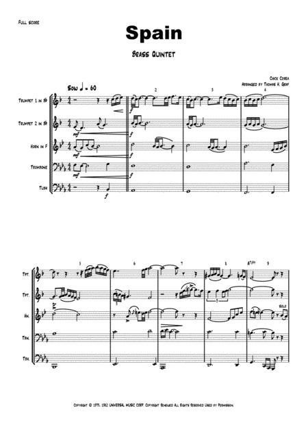 Spain - Chick Corea - Brass Quintet