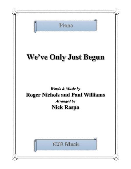 We've Only Just Begun (advanced intermediate piano)