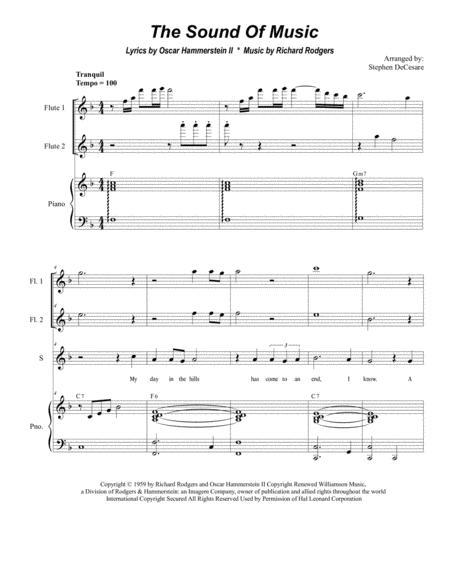 The Sound Of Music (for 2-part choir - (Sop. & Ten.)