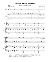 We Need A Little Christmas (for 2-part choir - (Sop. & Ten.)