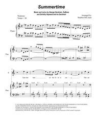 Summertime (for 2-part choir - (Sop. & Ten.) - Medium Key