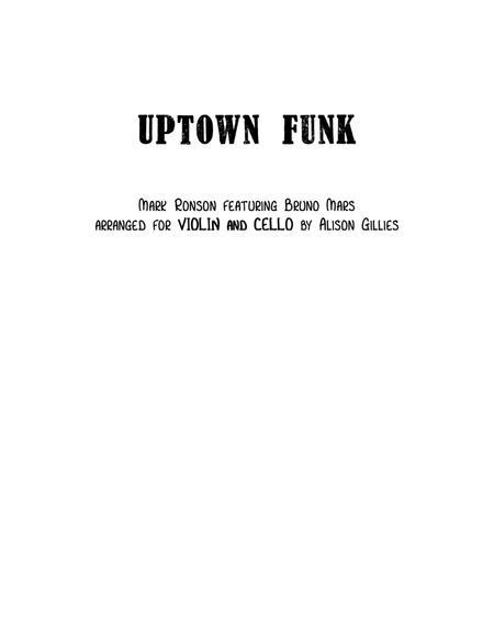 Uptown Funk - String Duo (vln/vc)