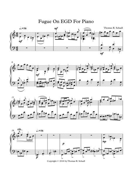 Fugue On EGD For Piano