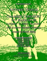 Vivaldi – Chamber Concerto in F Major RV 99 (for Clarinet Quartet and Optional Organ)