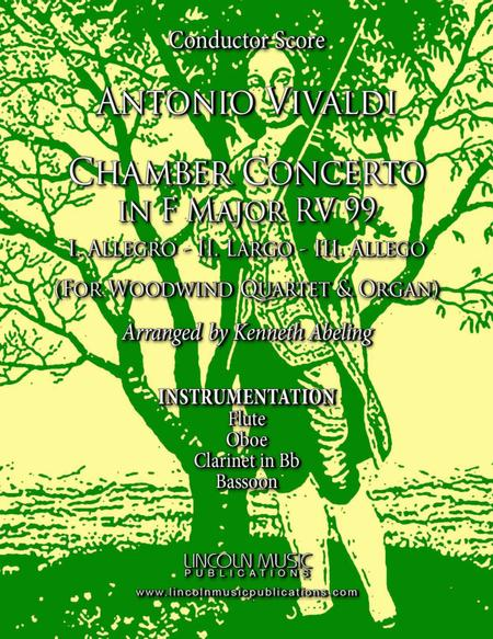 Vivaldi – Chamber Concerto in F Major RV 99 (for Woodwind Quartet and Optional Organ)