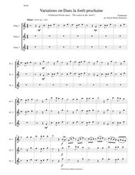 Dans la forêt prochaine (The Cuckoo in the forest) for 3 flutes
