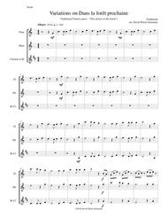 Dans la forêt prochaine (The Cuckoo in the forest) for flute, oboe and clarinet