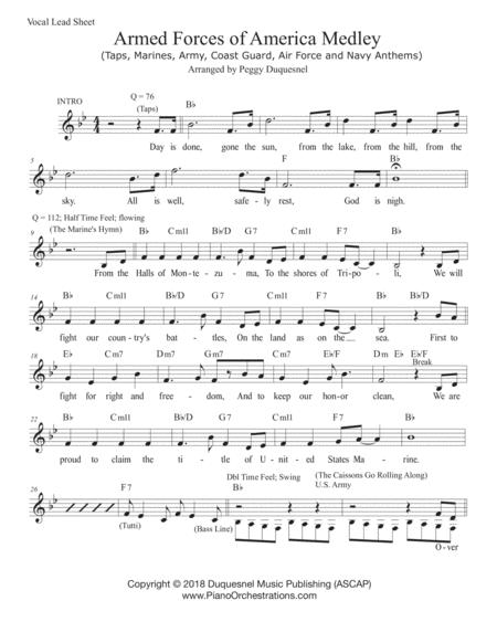 Armed Forces of America Medley (Vocal Lead Sheet - Bb)