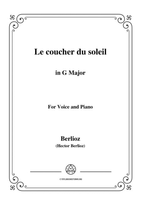 Berlioz-Le coucher du soleil in G Major,for voice and piano