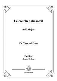 Berlioz-Le coucher du soleil in E Major,for voice and piano