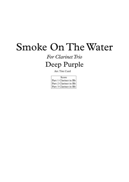 Smoke On The Water for Clarinet Trio