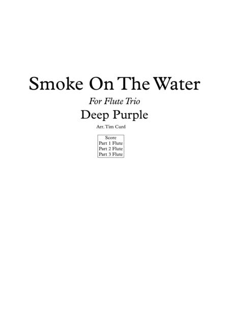 Smoke On The Water for Flute Trio