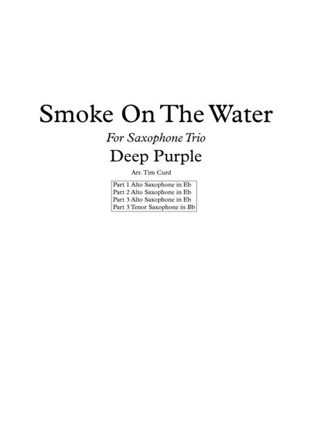 Smoke On The Water for Saxophone Trio