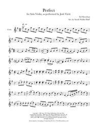 Perfect (for Solo Violin)