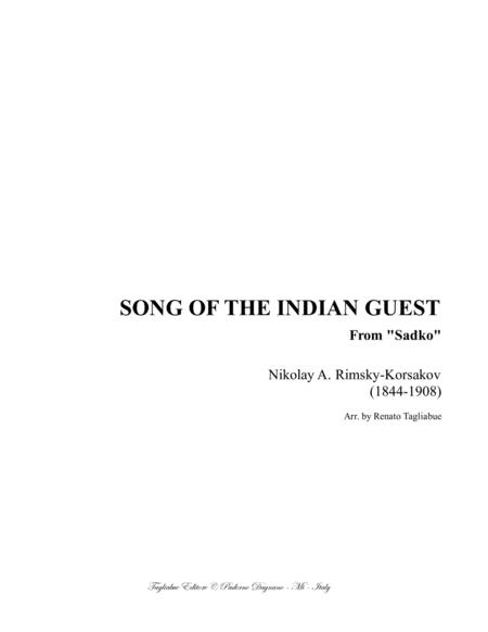 SONG OF THE INDIAN GUEST - Korsakov - Arr. for Violin (or any instr. in C) and Piano