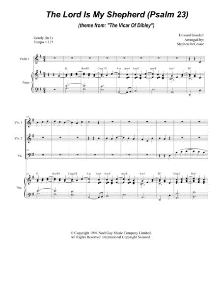 Psalm 23 (theme From The Vicar Of Dibley) (for String Quartet & Piano)