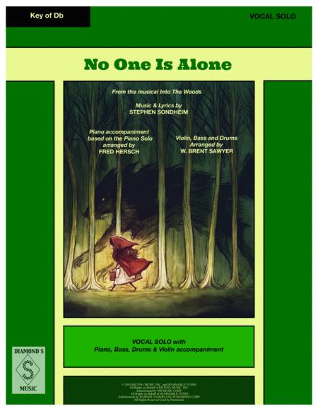 NO ONE IS ALONE from the musical INTO THE WOODS - Vocal Solo with 4 piece accompaniment