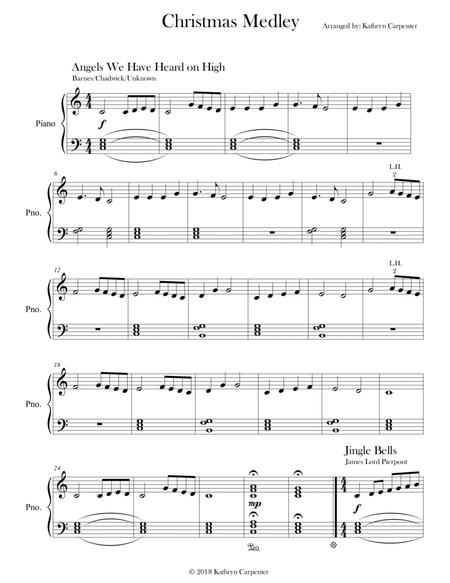 Christmas Medley Christmas Collection Easy Piano By Unknown Chadwick Barnes James Lord Pierpont Martin Luther English Christmas Carol Mccaskey Mohr Gruber Digital Sheet Music For Download Print S0 389059