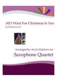 All I Want For Christmas Is You - sax quartet