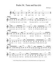 Psalm 34:  Taste and See (iii)