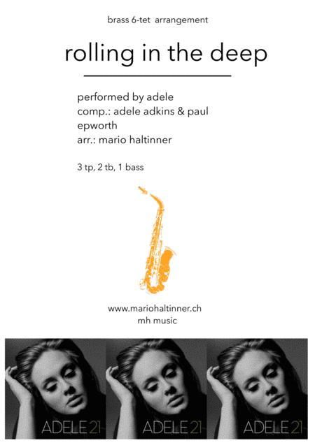 Rolling In The Deep - Adele - Brass 6-tet - score & parts
