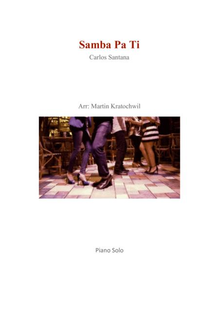 Download Samba Pa Ti Sheet Music By Carlos Santana - Sheet Music Plus