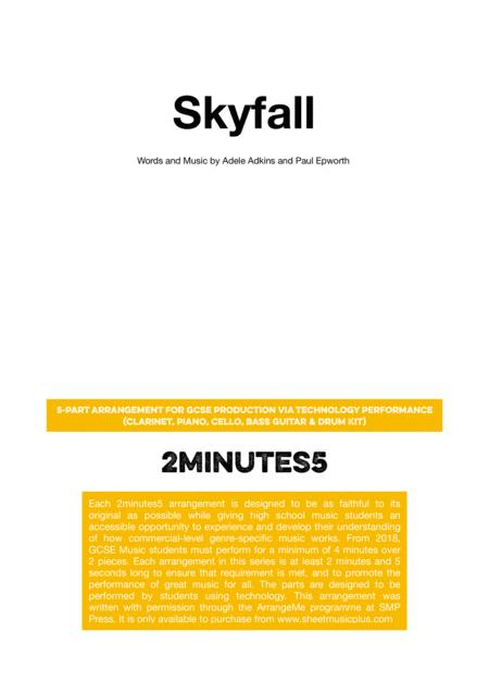 Skyfall - 2minutes5 arrangement for GCSE Music Production Via Technology Performance