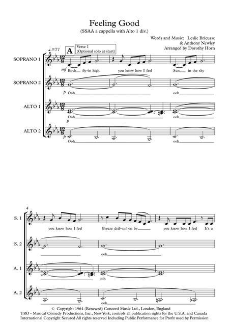 Feeling Good - SSAA a capella (unaccompanied) women's choir