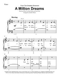 Download A Million Dreams - Easy Piano Sheet Music By The