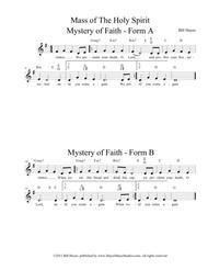 Mystery of Faith - Forms A & B (Mass Setting)