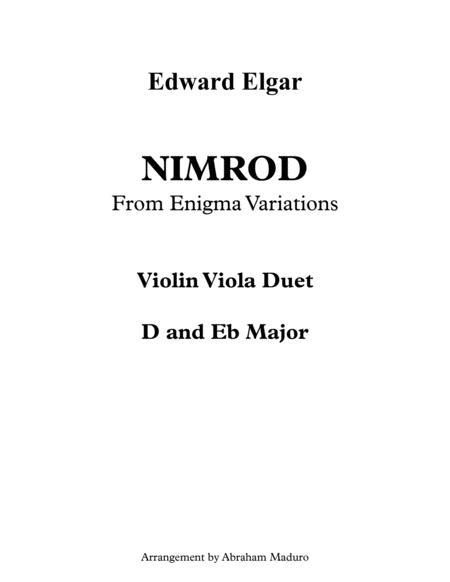Nimrod from Enigma Variations Violin Viola Duet